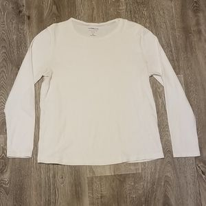 🍒Croft & Barrow classic long sleeve tee, white 🍒